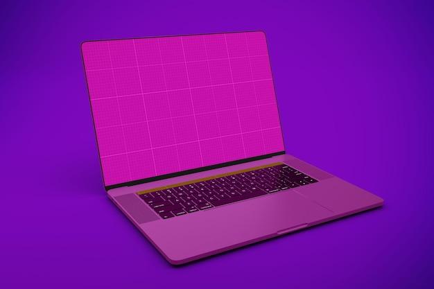 Maquete de tela inteira do laptop
