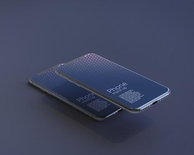 Maquete de tela moderna do smartphone