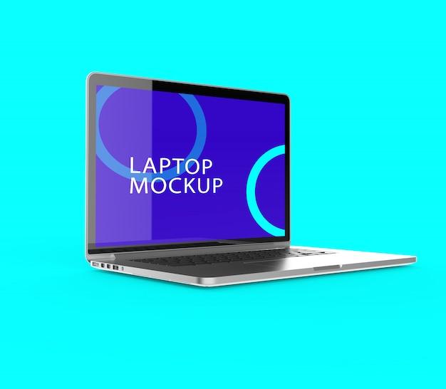 Maquete de tela realista realista de laptop