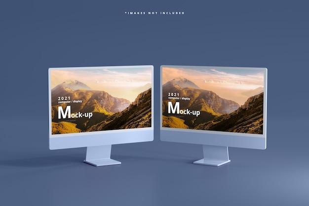 Maquete de telas de computador desktop