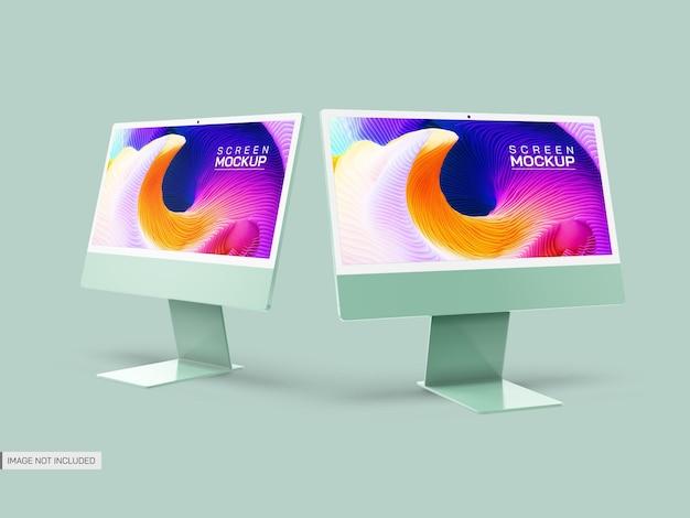Maquete de telas de desktop isoladas