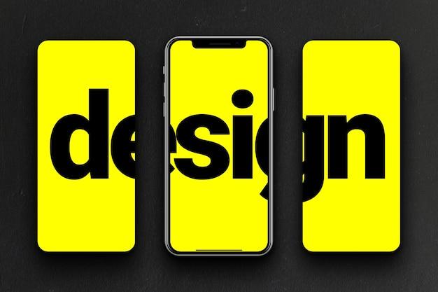 Maquete de telas de smartphone