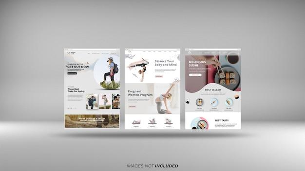 Maquete de telas do navegador da web