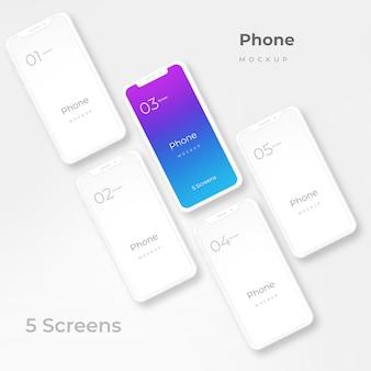 Maquete de telefone branco