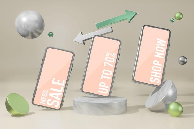Maquete de telefone celular criador de cena de maquete psd grátis