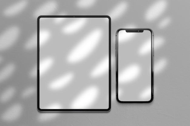 Maquete de telefone celular e tablet