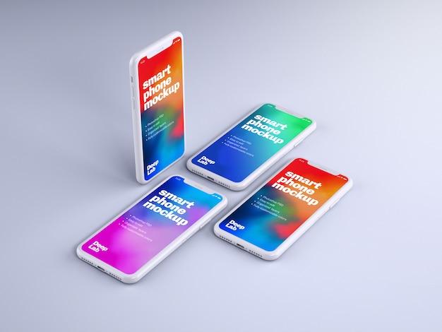 Maquete de telefone com parede editável