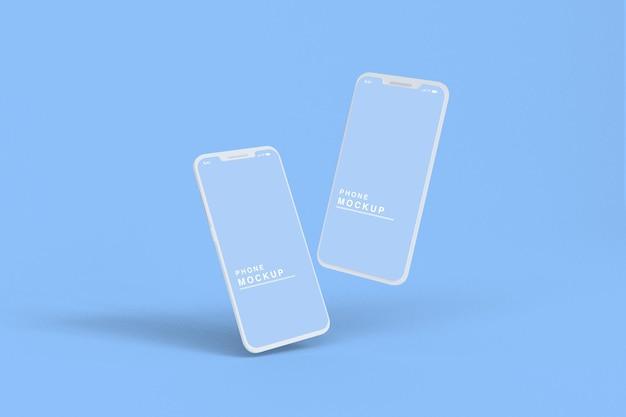 Maquete de telefone com renderização 3d
