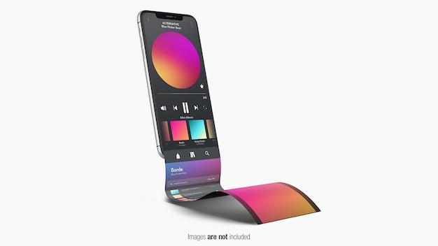 Maquete de telefone com tela de fita isolada
