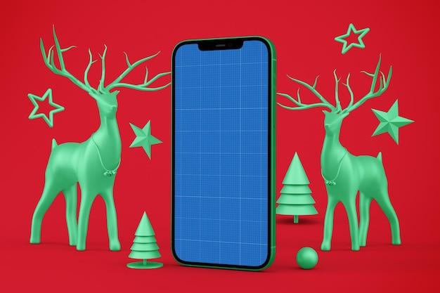 Maquete de telefone de natal