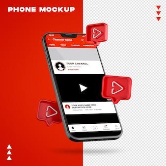 Maquete de telefone em renderização 3d