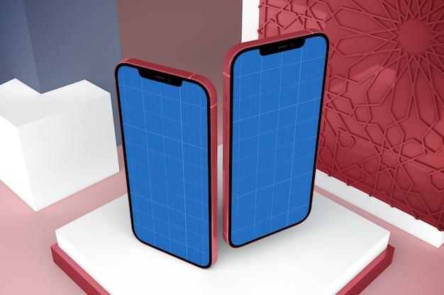 Maquete de telefone inteligente árabe