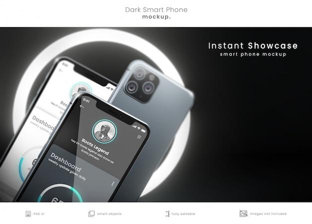 Maquete de telefone pixel perfect 3d