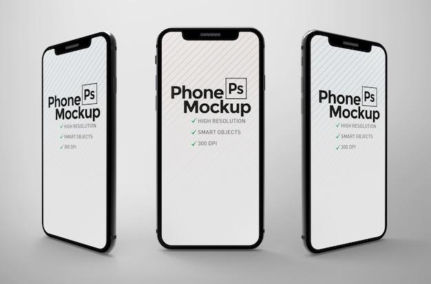 Maquete de telefone realista