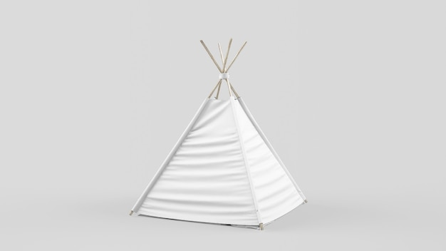 Maquete de tenda branca