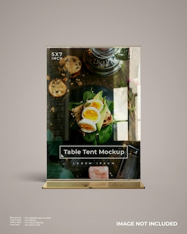 Maquete de tenda de mesa acrílica realista