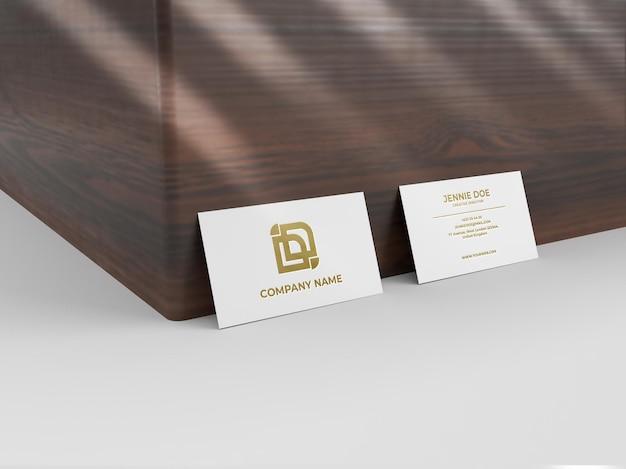 Maquete de textura brilhante com gravação de cartão de visita