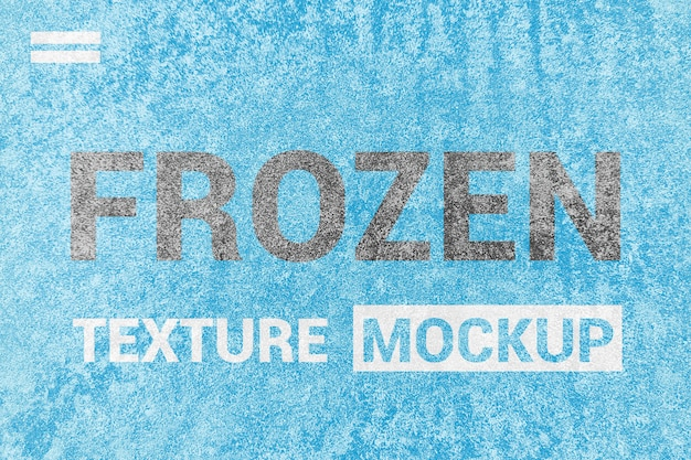 Maquete de textura congelada de gelo