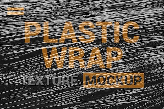 Maquete de textura de filme de embalagem fina