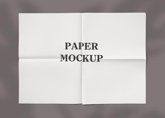 Maquete de textura de papel amassado
