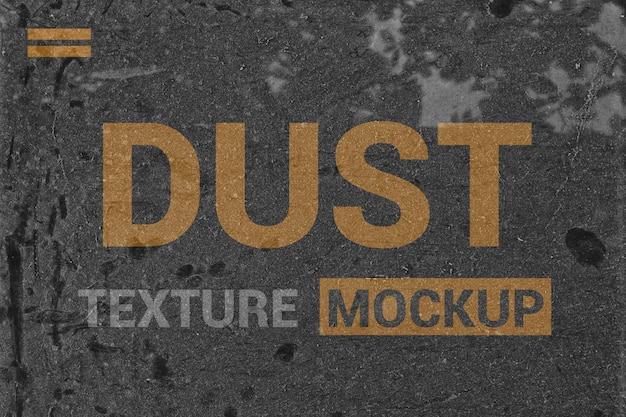 Maquete de textura de poeira