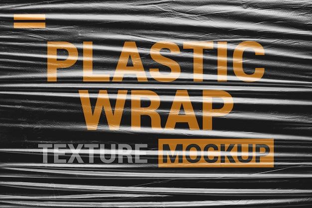 Maquete de textura plástica de estiramento