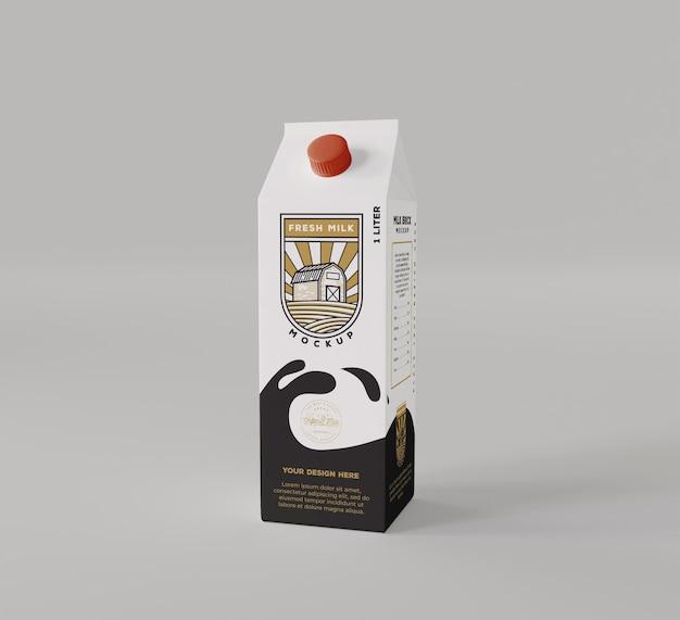 Maquete de tijolo de leite