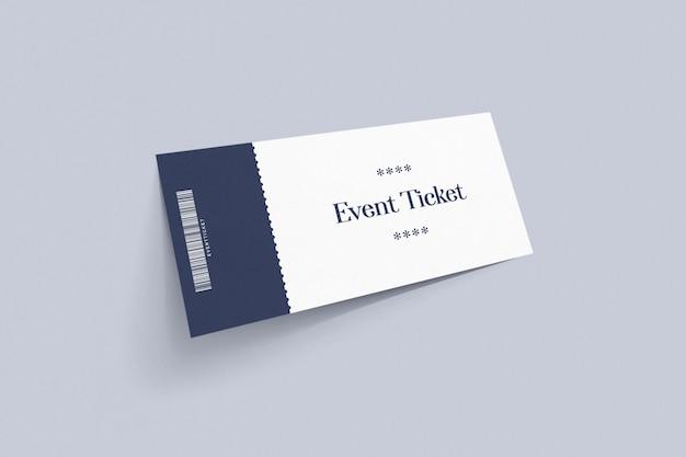 Maquete de tíquete de evento