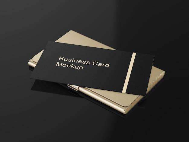 Maquete de titular de cartão de visita de luxo