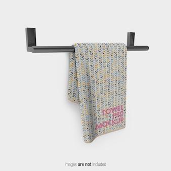 Maquete de toalha de banho