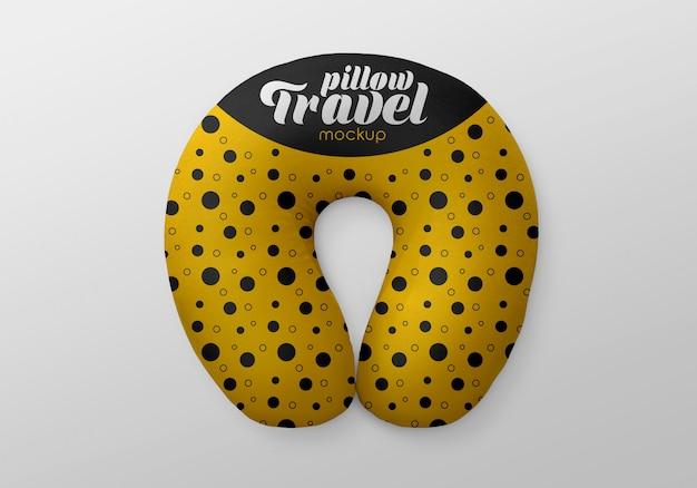 Maquete de travesseiro de viagem