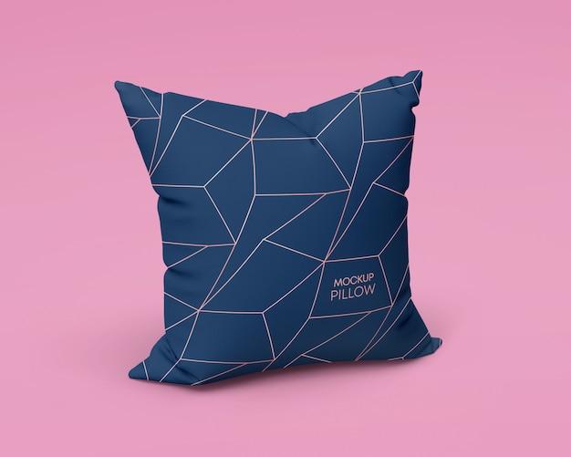 Maquete de travesseiro quadrado