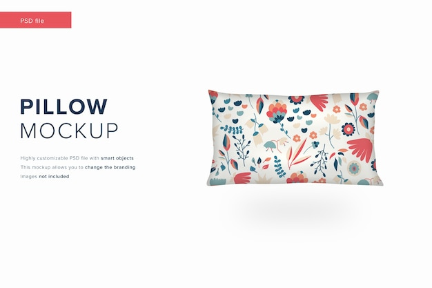 Maquete de travesseiro retangular em maquete de design moderno