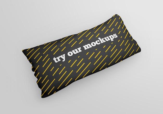 Maquete de travesseiro retangular longo