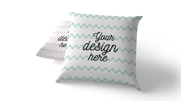 Maquete de travesseiros isolada