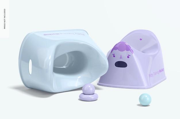 Maquete de treinamento potty, vista esquerda