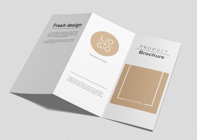 Maquete de três dobras brochura