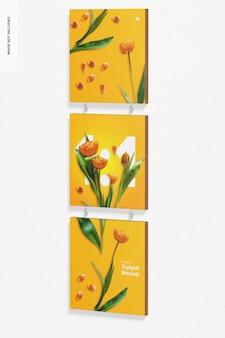 Maquete de triptych suspenso, vista direita