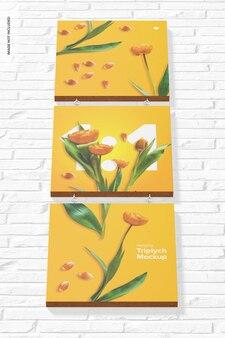 Maquete de triptych suspenso, vista frontal inferior