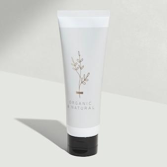 Maquete de tubo branco de beleza