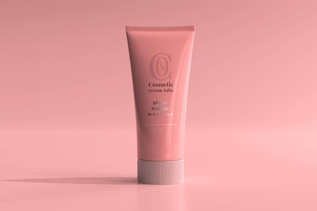 Maquete de tubo de creme cosmético