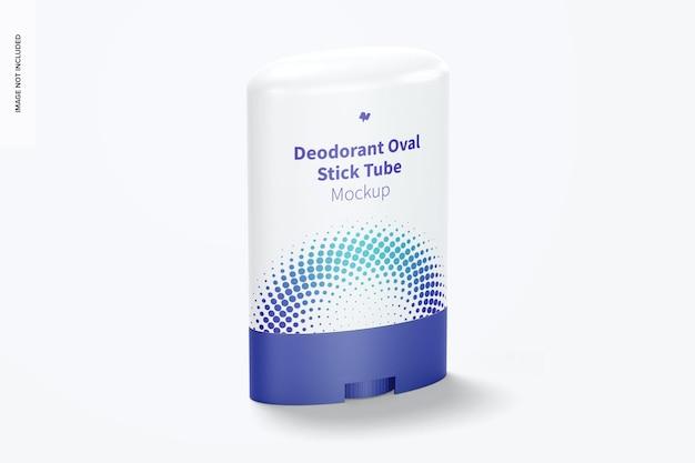 Maquete de tubo de desodorante oval em bastão