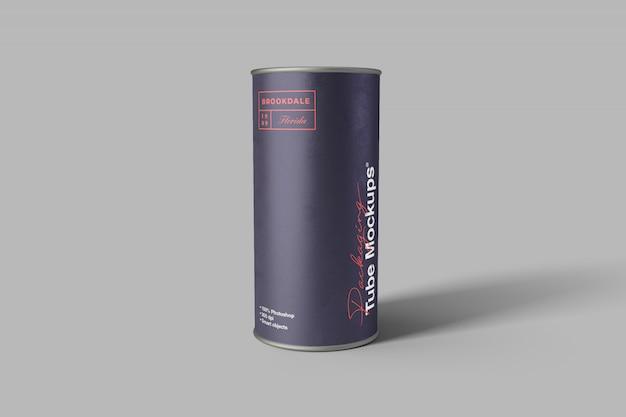 Maquete de tubo de embalagem