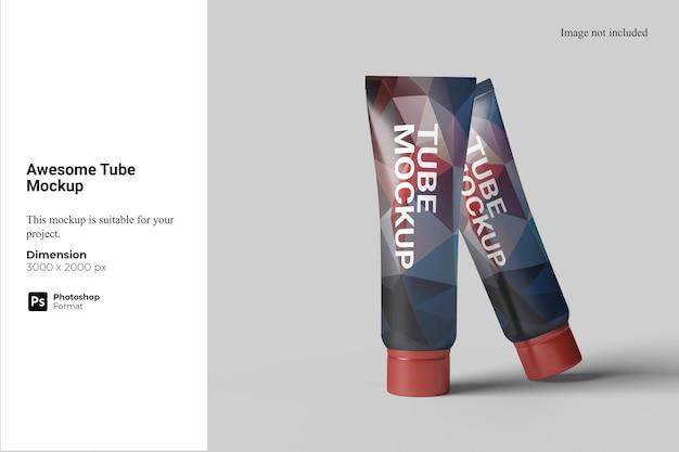 Maquete de tubo incrível