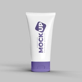 Maquete de tubo plástico de embalagens de cosméticos