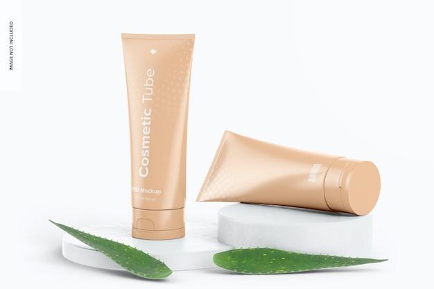 Maquete de tubos cosméticos de 180 ml