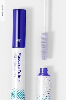 Maquete de tubos de rímel, close-up