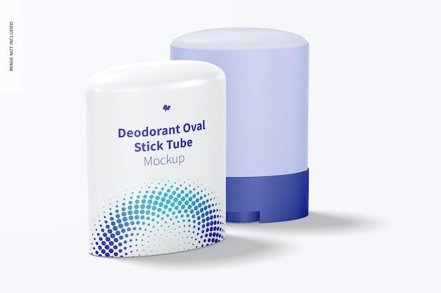 Maquete de tubos desodorantes ovais em bastão