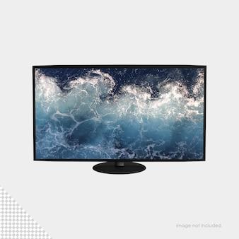Maquete de tv de tela plana