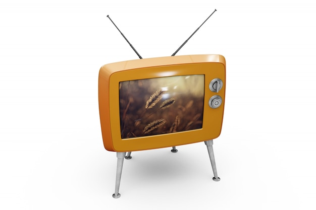 Maquete de tv retrô
